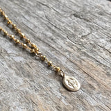 Gold Rosary Necklace