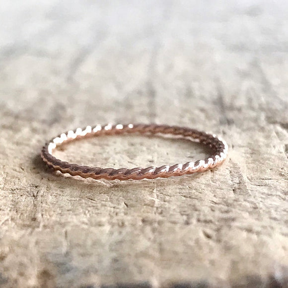 Rose Gold Twist Ring