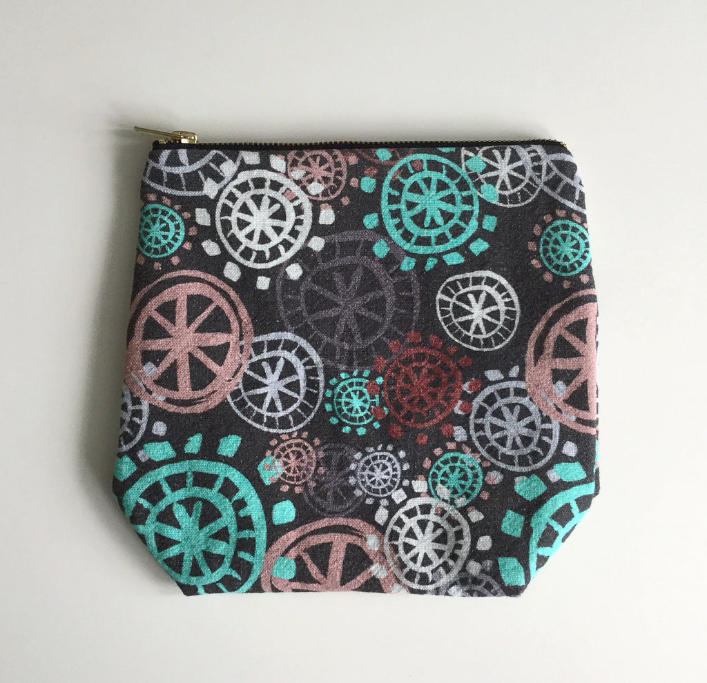 Make Up Bag / Project Bag - Aqua - Large