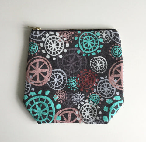 Make Up Bag / Project Bag - Aqua - Small