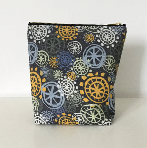 Make Up Bag / Project Bag - Yellow - Large