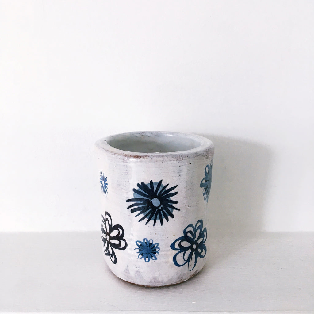 Blue And White Plant Pot - 3