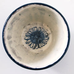 Blue And White Round Ceramic Dish 6