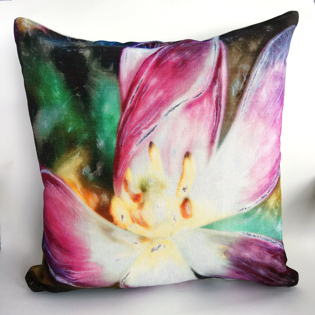 Purple Tulip Cushion Cover