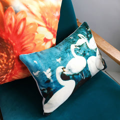Swan Cushion Cover