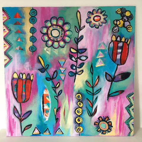 Midsummer garden 2 - 16 x 16 inches