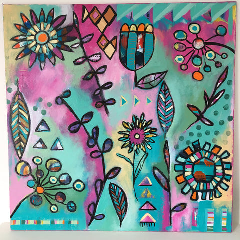Midsummer Garden 3 - 16 x 16 inches
