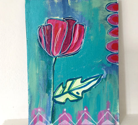 Summer Flower 4 -  5 x 7 Inches