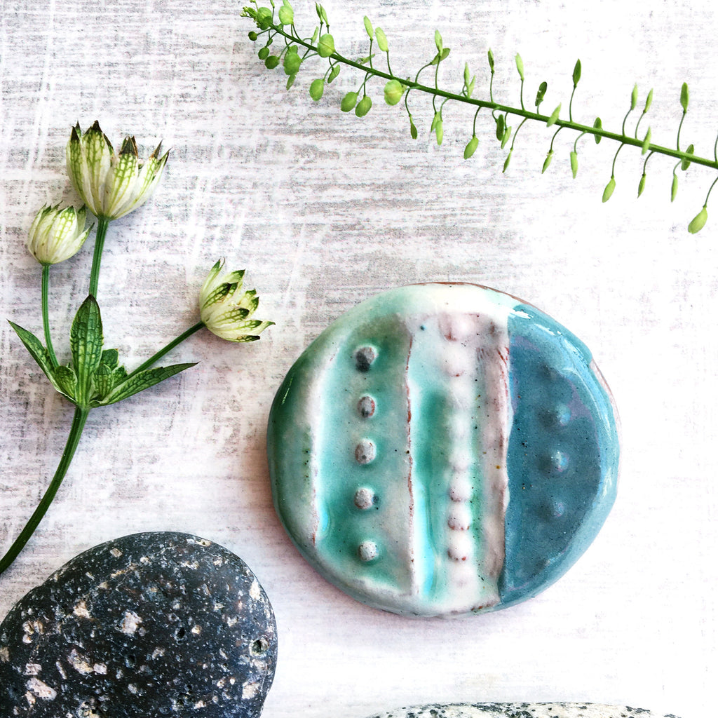Below the Sea - Ceramic Brooch