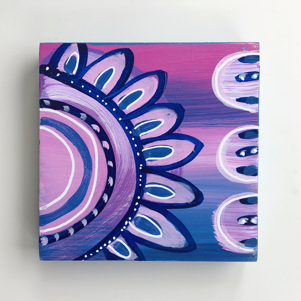 Sunset Flower 3 - 4 x 4 Inches