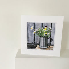 Two Floral Greetings Cards