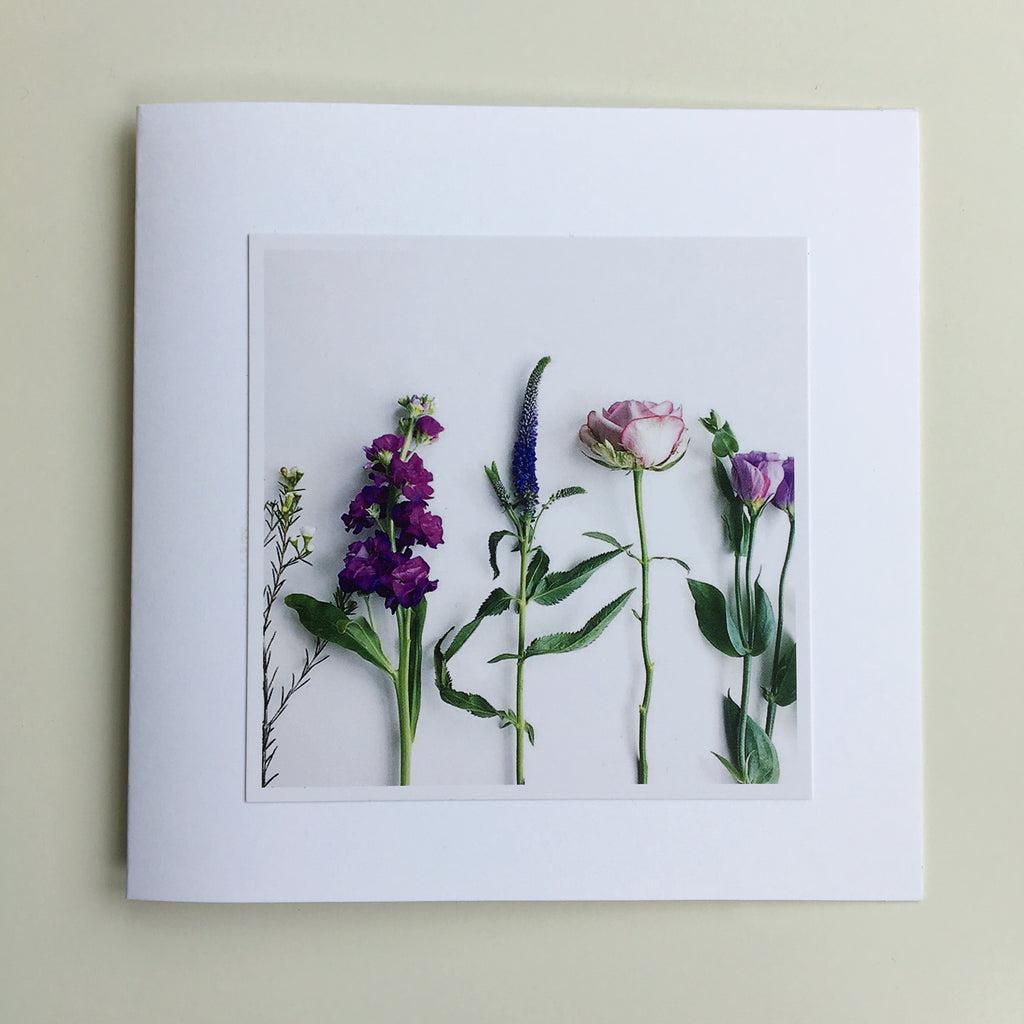 Floral Greetings Cards - Set of Two