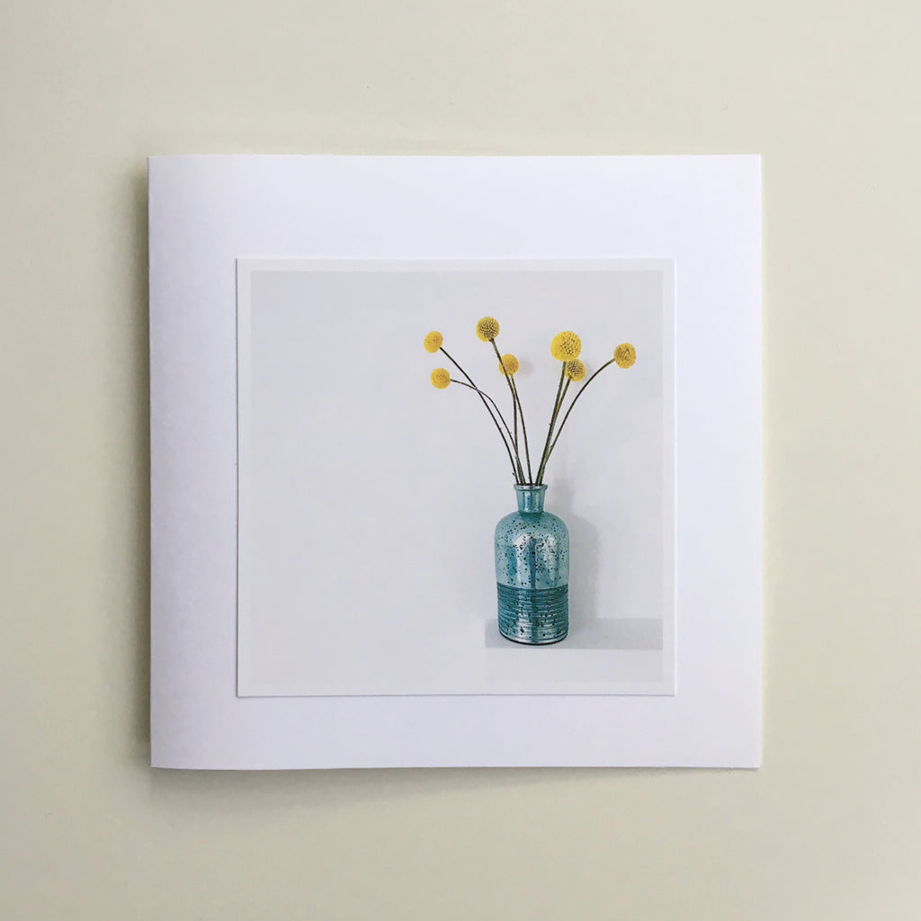 Two Greetings Cards - Yellow Flowers