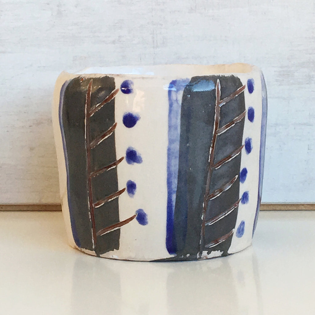 Plant Pot - Blue / Grey /White 2