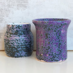 Small Vase - Speckled Purple 2