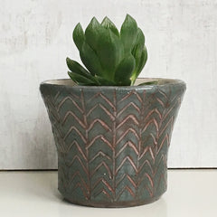 Plant Pot -  Grey / Green
