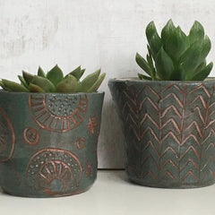 Plant Pot -  Grey / Green 2