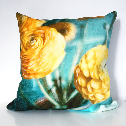 Yellow Ranunculus Cushion