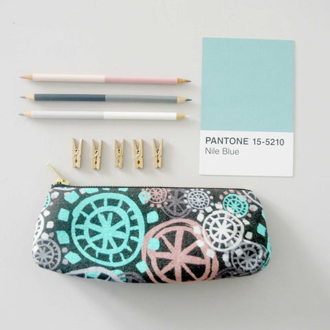Pencil Case / Make Up Bag - Aqua