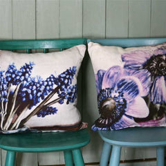 Purple Anemone Cushion Cover
