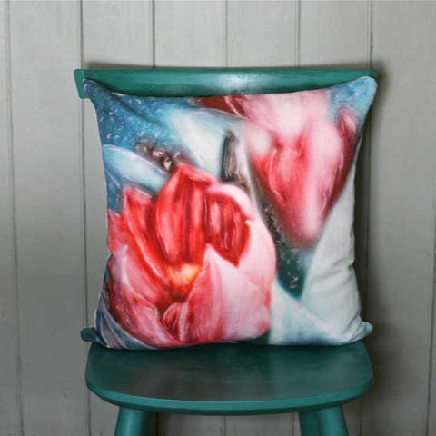 Red Tulip Cushion