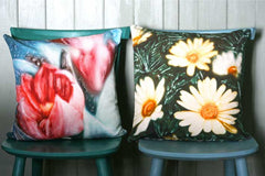 Red Tulip Cushion Cover