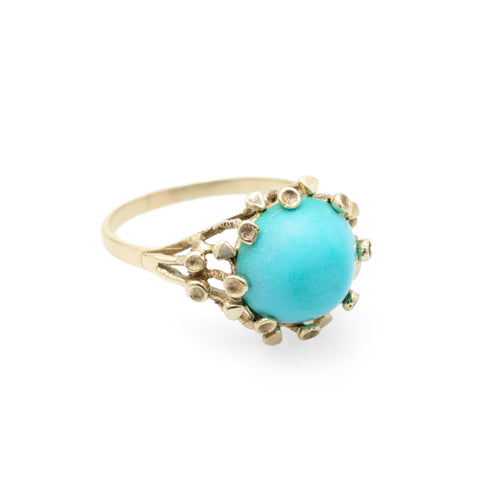 estate gold and turquoise ring