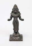 Antique Khmer Cambodian Cast Bronze Figure Statue of Uma Goddess of the Mountains (Code 0433)