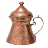 Antique Arts & Crafts Hand Planished Copper Jug with Brass Handle c1890 (Code 0465)