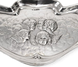 Antique Art Nouveau Hallmarked Silver Reynolds Angels Tray - Charles Horner 1906 (Code 0500)