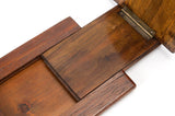 Antique Victorian Mahogany and Gilt Metal Mounted Folding Desk Book Slide (Code 0686)