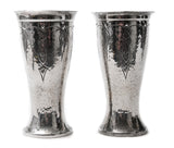 A Pair of Mayflower English Arts & Crafts Design Polished Planished Pewter Vases (Code 0750)