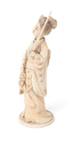 Antique Japanese Carved Ivory Okimono Figure of a Bijin c1900 (Code 1375)