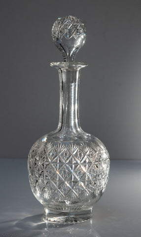 Vintage Thomas Webb Lead Crystal Wellington Pattern Wine Decanter (Code 1623)