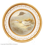 Antique Royal Doulton for Tiffany Joseph Hancock Hand Painted Ptarmigan Plate (Code 1672)