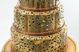 Antique Large Middle Eastern Pierced and Chased Brass Tiered Incense Burner (Code 1837)
