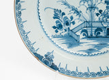 Mid 18th Century London Lambeth English Delft Ware Chinoiserie Charger c1760 (Code 1892)