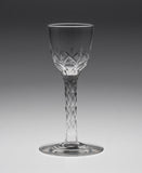 George III Antique English Facet Cut Stem Wine Glass with Rose Pattern Bowl (Code 1920)
