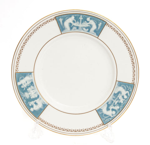 Minton China Tri Panel Pate sur Pate and Gilt Plate by Alboin Birks c1931 (Code 1967)