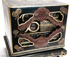 Antique Chinese Lacquer Ware Gilded Nesting Wedding Dowry Box / Chest (Code 1993)