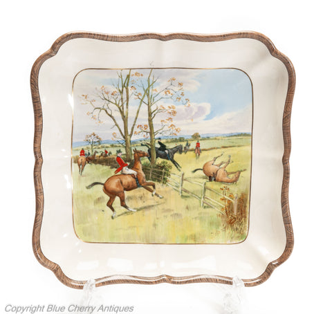 Rare Lionel Edwards / WT Copeland Spode for Soane & Smith Fox Hunting Dish c1925 (Code 2039)