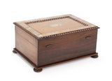 Antique Victorian Rosewood & Mother of Pearl Inlaid Fitted Sewing Box c1860 (Code 2077)