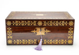 Antique William Colsey Mansion House London Rosewood & Brass Writing Slope Box (Code 2080)