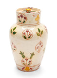 Antique Della Robbia Birkenhead Arts & Crafts Pottery Pot Pourri Vase / Jar c1900 (Code 2097)