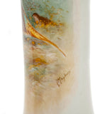 Royal Worcester China Leighton Maybury Heathland Pheasants Hand Painted Vase (Code 2101)