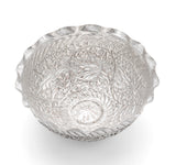 Antique Indian Kashmir Srinagar Chinar (Buen) Leaf Silver Plated Bowl c1880 (Code 2115)