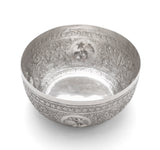 Antique Ceylonese (Sri Lankan) White Metal/Silver Offering Bowl with Elephants (Code 2116)