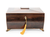 Antique Georgian Regency Rosewood & Box Wood Strung Work or Table Box c1825 (Code 2138)