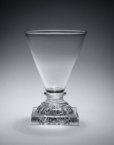 Georgian English Lead Glass Rummer with Lemon Squeezer Foot - Antique c1800 (Code 2172)