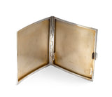 Art Deco Sterling Silver Pin Stripe Pocket Cigarette Case by William Neale 1925 (Code 2199)